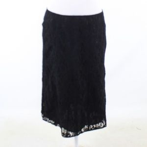 Black color lace SUZY SHIER pencil skirt Medium